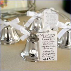 Kissing Bells....at the Polish weddings I've been to people just tap their butter knives on the crystal....