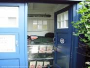 """""""Doctor Who""""  'The Tardis'  Features: My shed is based on the current (2010) Tardis prop, as it is the largest design and therefore more practical for storage purposes. As well as being an attractive novelty garden feature"""