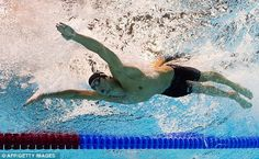 Fast: US swimmer Michael Phelps competes in the men's 200m butterfly semi-final swimming event at the London 2012 Olympic Games on July 30, 2012 in London - AFP Getty Images - via DailyMail