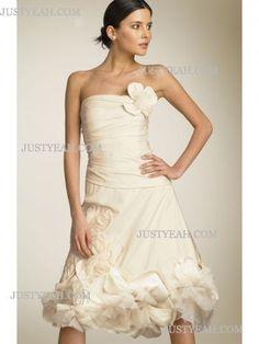 Senza spalline per abiti da sposa estivi corti