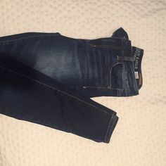 American Eagle skinny jeggings size 2 Dark wash skinny jeggings. High rise. Size 2. Great condition!  American Eagle Outfitters Jeans Skinny