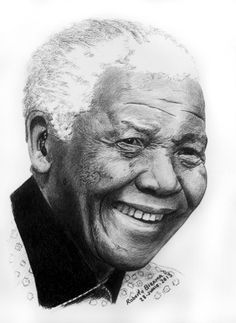 """NELSON MANDELA by RobertoBizama.    in Features Journal : """"Tribute to  Nelson Rolihlahla Mandela 18 July 1918 – 5 December 2013""""  - Art and Quotes -"""