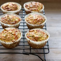 These savoury muffins are a variation of my Zucchini Breakfast Muffins,  using buckwheat flour instead of coconut flour to give the muffins a more  traditional muffin-like texture. I like to make them on Sundays so that I  have a quick breakfast or snack on hand for the week ahead.
