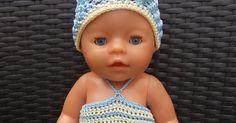Zoals beloofd in mijn laatste blogbericht, heb ik het patroon van het jurkje en mutsje voor de Baby Born pop uitgeschreven en zal ik het met... Baby Born, Barbie, Crochet Hats, Amigurumi, Breien, Kunst, Knitting Hats, Barbie Dolls