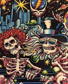 ~The Grateful Dead~ Grateful Dead Image, Grateful Dead Poster, Grateful Dead Skull, Dead Images, Forever Grateful, Concert Posters, Festival Posters, Psychedelic Art, Trippy