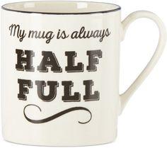 Lenox Around The Table Collection Stoneware Half Full Mug #cute #cutest #mugs #mug #coffee