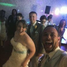 Yes I made the #Groom #Dance with his #Bride!!! It was too much fun!!! I think he had fun though... #DJNoji #NWESstl #DanceFloorFunWithDJNoji #WeddingDay #MrAndMrsSki #Selfie #NewlyWeds #dj #DanceFloor #BrideAndGroom #CONGRATS