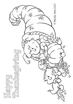 Thanksgiving coloring page: for the kids