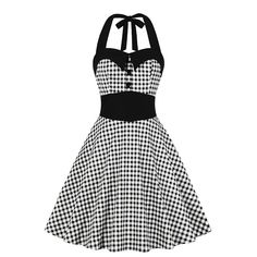 Vintage Summer Dress Pin Up Buttons Plaid Gingham Rockabilly Dress Pin Up Outfits, Crop Top Outfits, Pin Up Dresses, Vestidos Pin Up, Vestidos Retro, Jupe Swing, Swing Skirt, Burlesque Dress, Lolita Dress