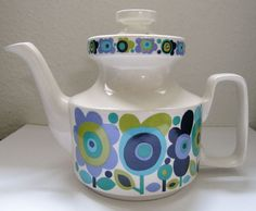 More graphic inspiration -    Elayne Fallon 'Weston' Teapot, Staffordshire Potteries. My pride and joy.