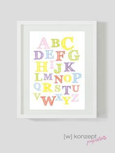 Drucke & Plakate - Typo ABC Bild, A4 - ein Designerstück von wkonzept bei DaWanda