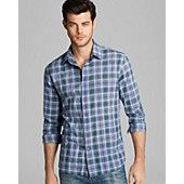 John Varvatos USA Basic Plaid Sport Shirt - Slim Fit