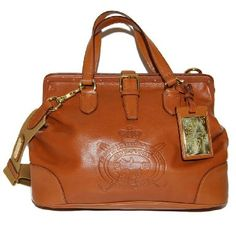 Polo Ralph Lauren Equestrian Womens Cognac Brown Purse Leather Purse Bag Tote