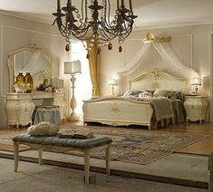 Classic Bedroom Design, The past aesthetic features surround us every where, even of great innovations and new fashions in every field, we feel loyalty for the past. So the classic bedroom design is Romantic Bedroom Design, Luxury Bedroom Design, Interior Design, Bedroom Designs, Baroque Furniture, Bedroom Furniture, Luxury Furniture, Dream Bedroom, Home Bedroom