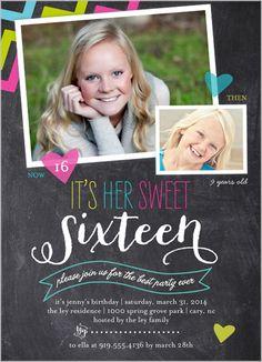 Chalkboard Chevron Sweet Sixteen