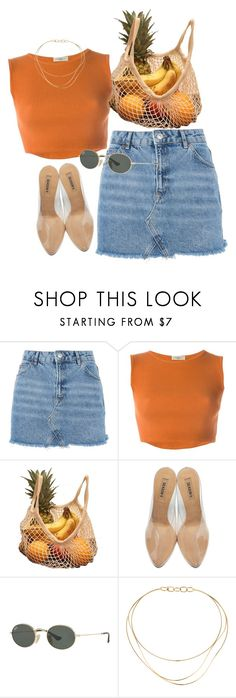 """farmers market"" by chanelandcoke ❤ liked on Polyvore featuring Topshop, Romeo Gigli, adidas Originals, Ray-Ban, Tiffany & Co. and denimskirts"