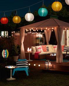 Solar garden lights and outdoor fairylights