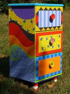 Cabinets - AM Designs #paintedfurniturewhimsical #funkyfurniture