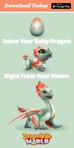 Love Dragons? We do too! Download Dragonvale World today and Hatch a Dragon Right From Your Phone!