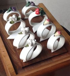 Fruit Napkin rings by tanievintageitaliy on Etsy