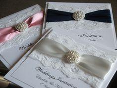 Handmade Wedding Invitation sample  - The Vintage Pearl. £3.50, via Etsy.