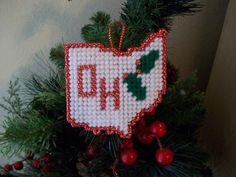 plastic canvas christmas ornaments | ... to Handmade Ohio Holly Plastic Canvas Christmas Ornament on Etsy