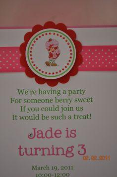 Cute Birthday Invitation Wording Beautiful Cute Wording Vintage Strawberry Shortcake Invitations Set Of 12 Party Ideas Birthday Party Planner, 1st Birthday Invitations, Graduation Party Invitations, 4th Birthday Parties, Birthday Fun, Fourth Birthday, Birthday Ideas, Sip And See Invitations, Invites