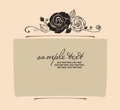 Handpainted rose pattern line draft 03