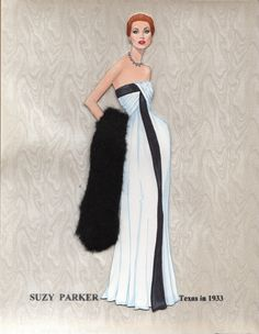 My paper doll of 1950s supermodel & actress Suzy Parker...