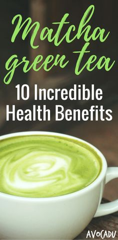 Lose weight with this healthy drink - matcha green tea powder for weight loss!  #GreenTea  #Tea  #TeaTime