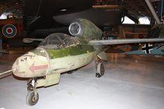 Heinkel He 162 Volksjager (People's Fighter) aircraft.