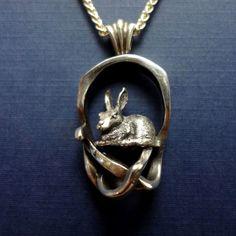 rabbit pendant realistic pretty charm 14k gold silver jewelry handmade USA animal jewelry – All Animal Jewelry & Jan David Design Jewelers
