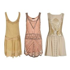Roaring 20s / 1920's Flapper Girl Party Dresses via Polyvore