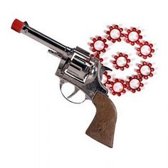 Die Cast Cap Gun w 144 Pellets from Little Baby Company