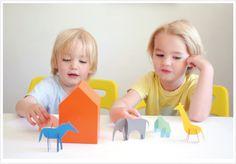 Paint Chip Friends by handmadecharlotte via mermag #Paint_Chip #Animals