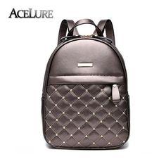 Women Backpacks Hot Sale Fashion Causal bags High Quality bead female shoulder bag PU Leather Backpacks For Girls,mochila