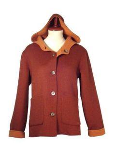 Die #Kapuzenjacke kurzer #Mantel aus kostbarem dicken Stoff aus Alpakawolle. Die Jacke kann beidseitig getragen werden, so dass Sie viele Möglichkeiten haben zu kombinieren.