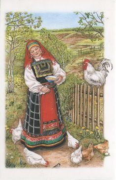A Country Scene in Russia Russian Folk, Russian Art, Pictures To Paint, Print Pictures, Creation Photo, Russian Culture, Russian Painting, Country Scenes, Arte Popular