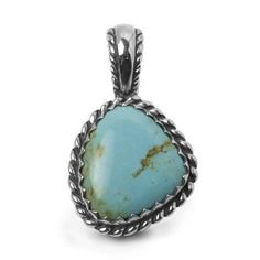 Sterling Silver Kingman Turquoise Freeform Rope Pendant Enhancer (Jewelry) http://www.amazon.com/dp/B002PNOM9A/?tag=pindemons-20 B002PNOM9A