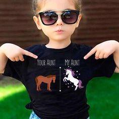 Your Aunt My Aunt Horse Unicorn Funny T-Shirt For Crazy Aunts