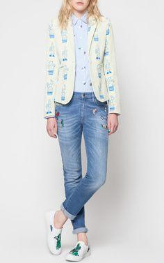 Cactus Jacquard Jacket by MIRA MIKATI for Preorder on Moda Operandi