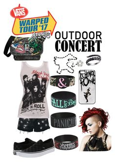"""Vans Warped Tour 2017"" by kickchickie on Polyvore featuring Marc Jacobs, Topshop, Vans, Hot Topic, 60secondstyle and outdoorconcerts"
