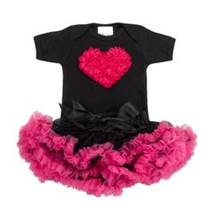 Baby LOVE Collection - Hot Pink & Black Tutu Love Set-Trendy and Stylish Baby Petti Skirts and Tutu's. Find|Buy|Shop|Compare|LollipopMoon.com only $58.00 - Tutu Love