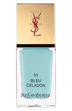 Yves Saint Laurent 'La Laque Couture' Nail Lacquer 50 Bleu Celadon