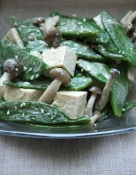 Adapted from Chef Greg Dunmore, this nutty, gingery dressing is tossed with tofu, snow peas, and tiny mushrooms creating a healthy, vibrant salad. Read more!