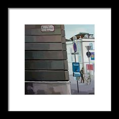 Town Framed Print featuring the painting Augustiner Strasse by Carmen Stanescu Kutzelnig Hanging Wire, Fine Art America, Framed Prints, Painting, Oktoberfest, Frame, Printing, Paintings, Draw