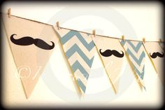 Mustache Banner Little Man Party-Baby Shower banner-Mustache