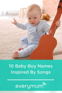 Looking for some baby name inspiration? Well why not take some inspiration from your favourite songs and singers? Look no further for some beautifully lyrical baby boy names! Celtic Baby Names, Irish Baby Names, Vintage Baby Names, Unique Baby Names, Celebrity Baby Names, Celebrity Babies, Superhero Real Names, Name Inspiration, Popular Baby Names