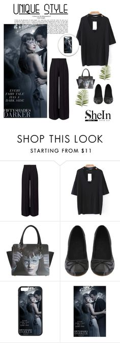 """""""Fifty Shades Darker - SHEIN Black Choker T-Shirt"""" by stine1online ❤ liked on Polyvore featuring Miss Selfridge and Pier 1 Imports"""