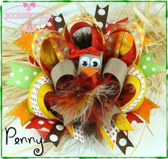 Awesome turkey hairbow